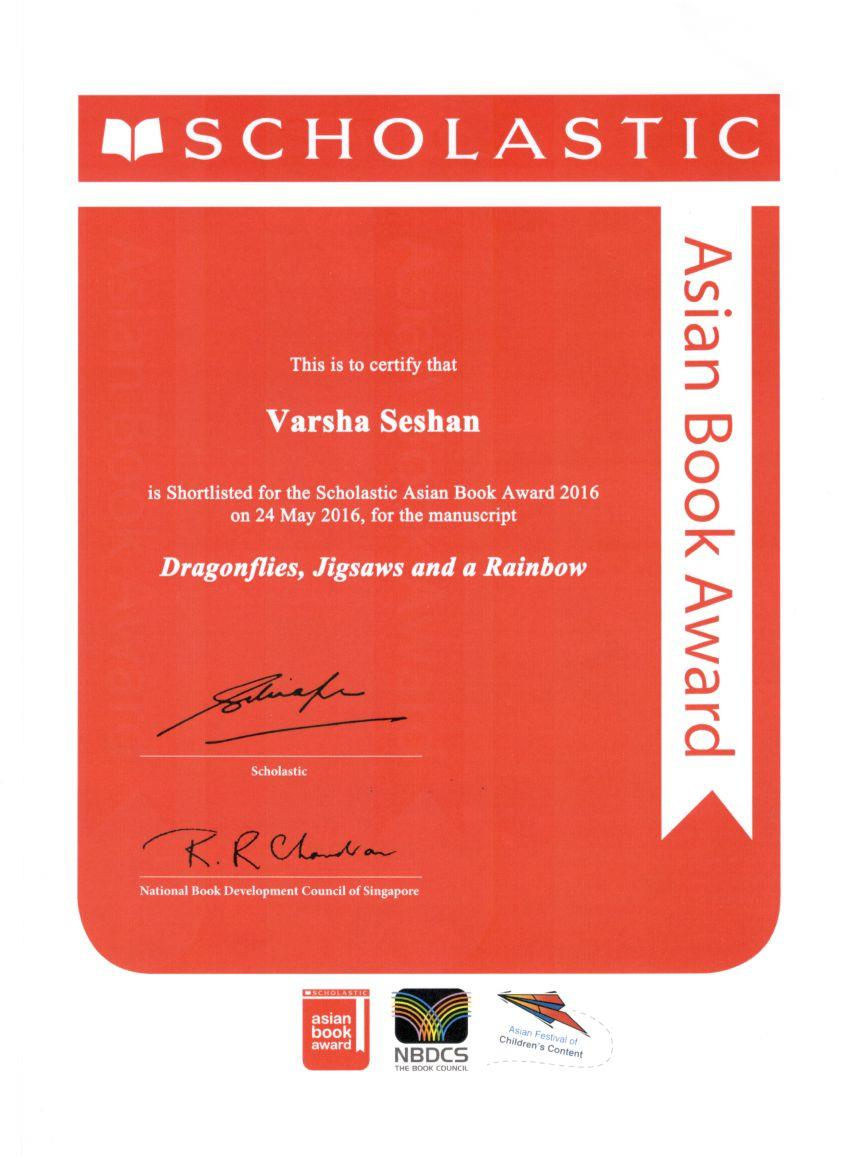 Varsha Seshan - SABA Shortlist