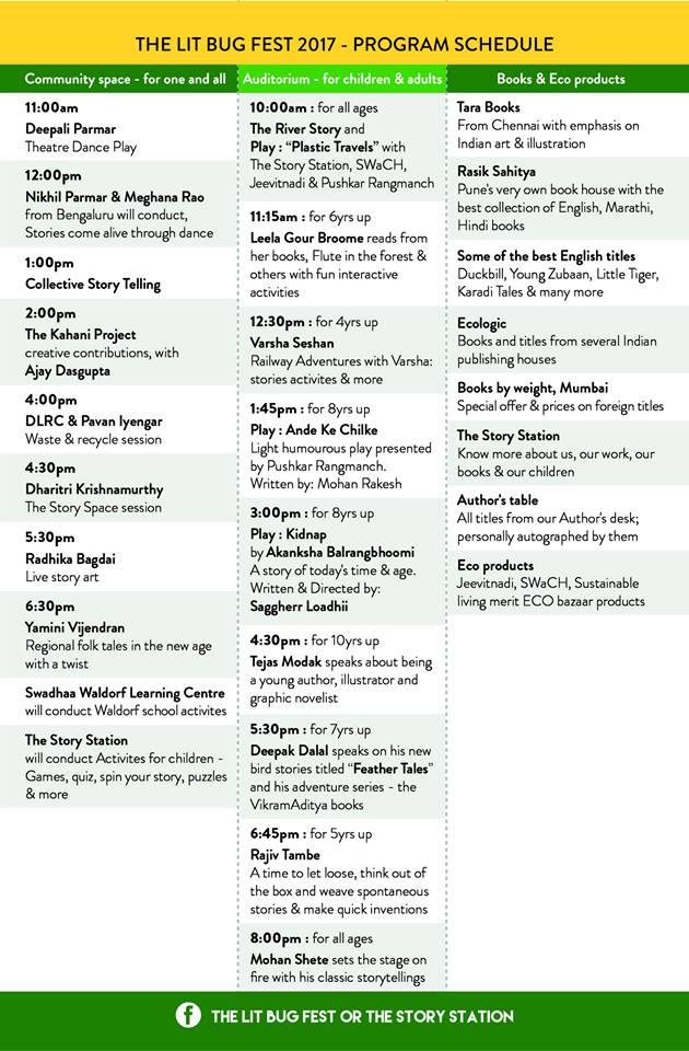 Lit Bug Schedule