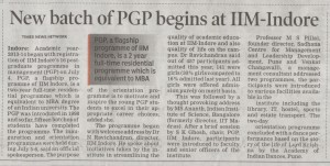 Sunday Times _ IIM-I PGP Batch Commence