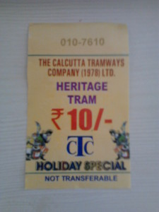 Tram ticket