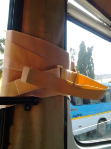 Bus-door tied