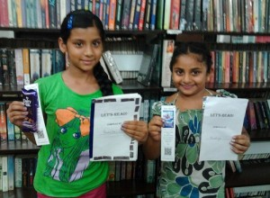 16. Alankrita and Ananya with their books