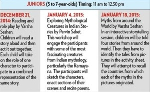 Sakaal Times Junior Workshops