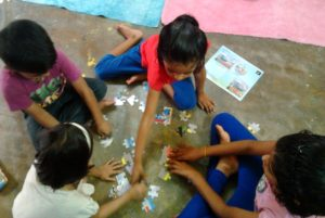 Making puzzles at Kids Collective