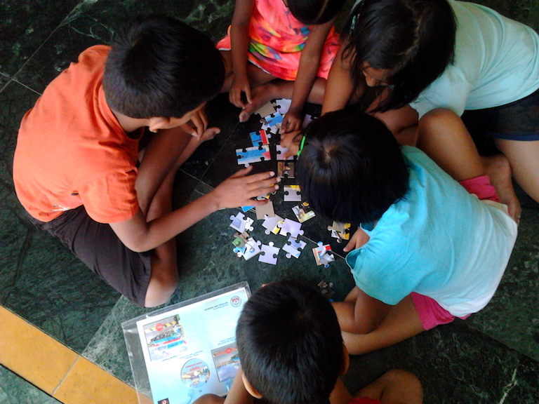 Activities at reading workshops - jigsaws