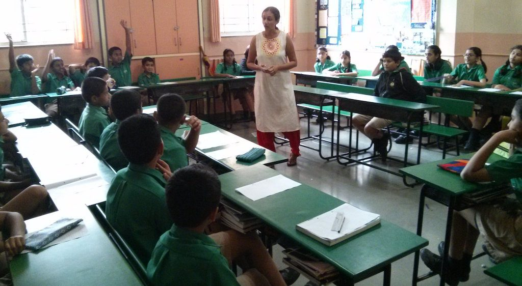 Creative Writing workshop at Vidya Valley