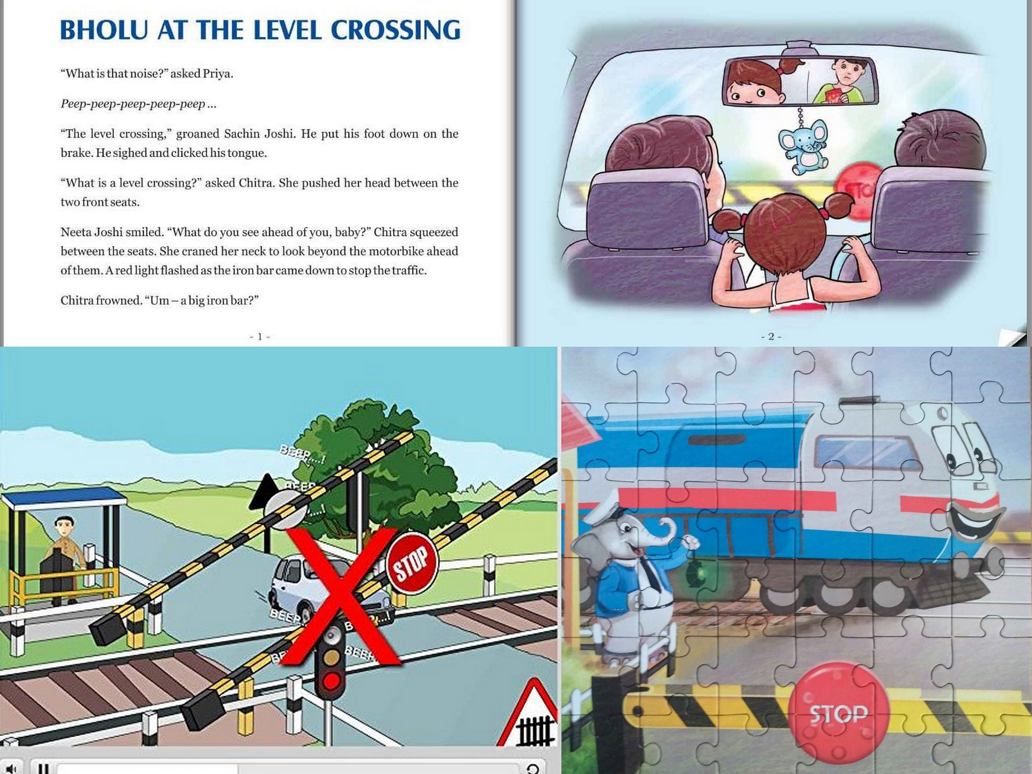 Bholu at the Level Crossing Activity Kit