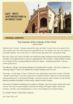The Caravan of the Cultures of the World - published in ELJ I-iii