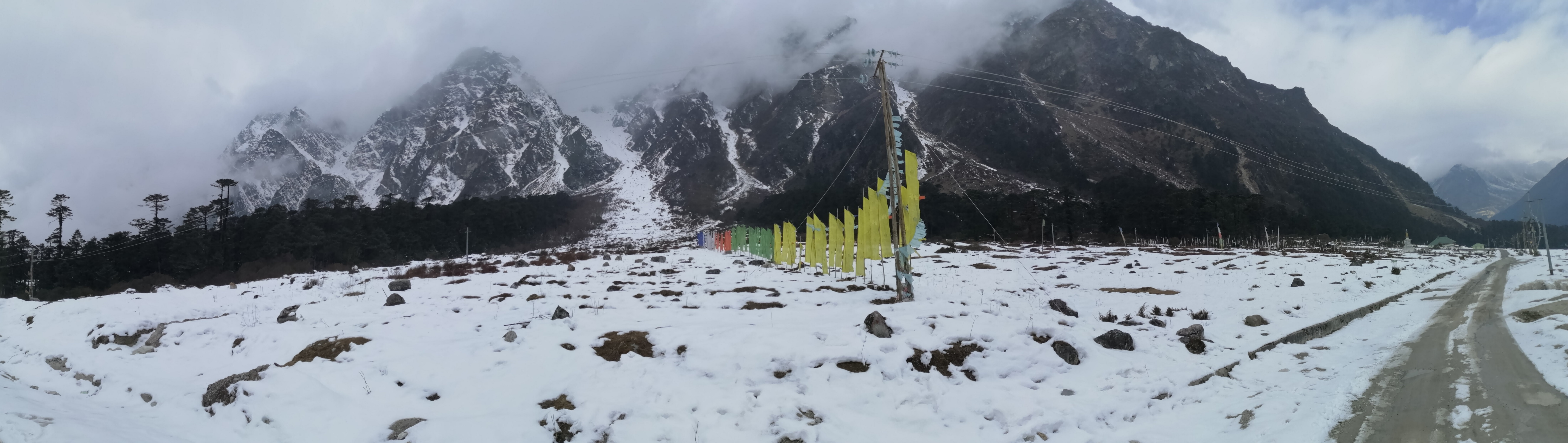 Flags at Yumthang