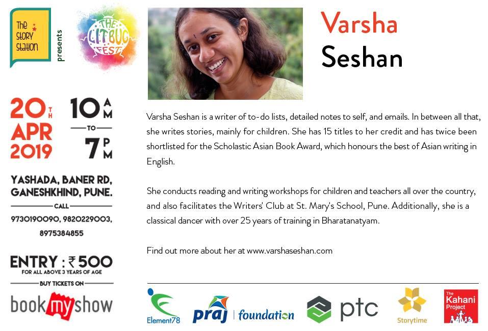 Lit Bug promotion - Varsha Seshan, author