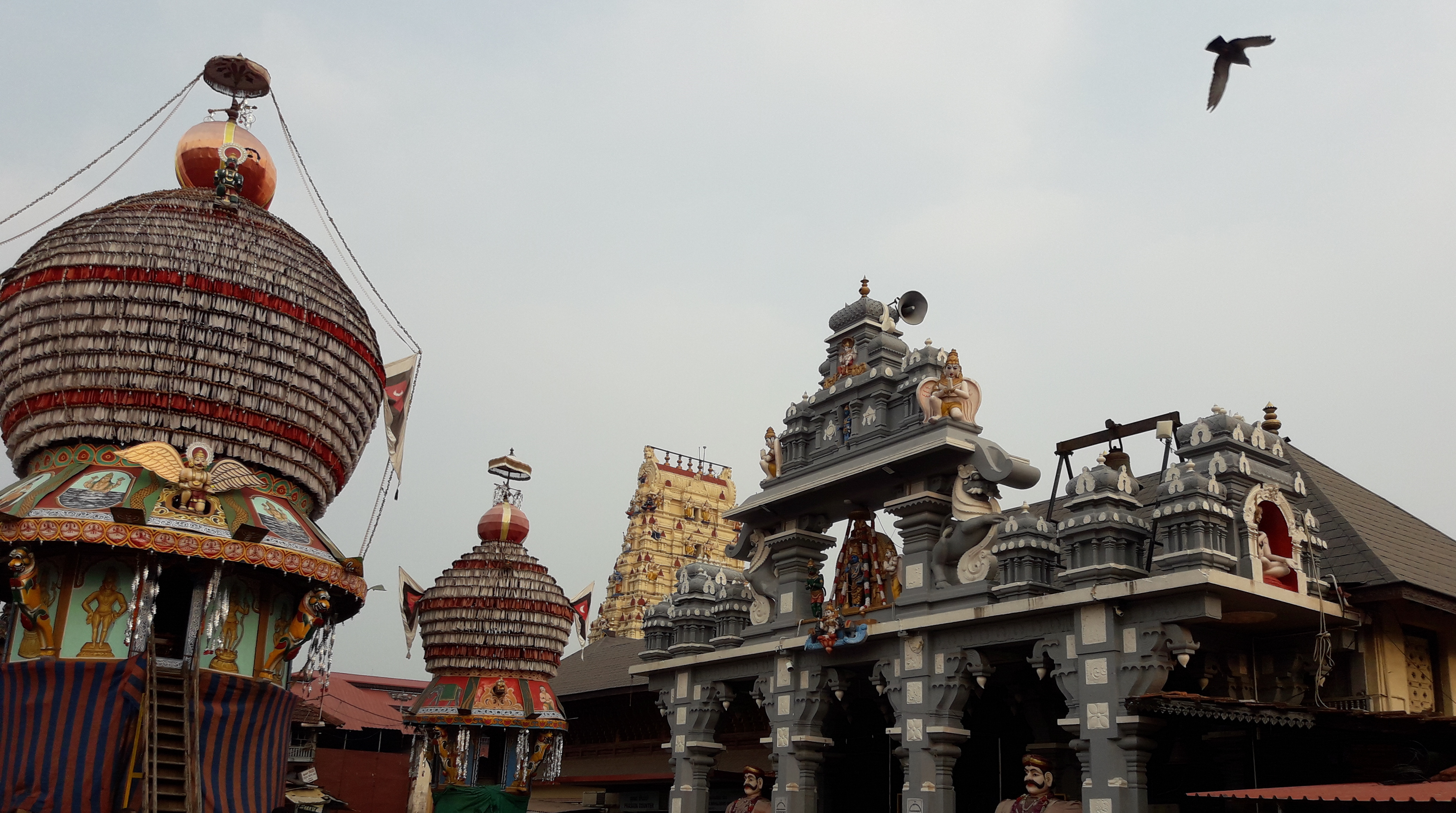 Udupi - rath (chariot) and temple