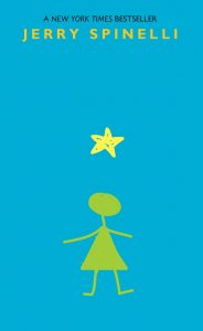 A New York Times bestseller Jerry Spinelli Image description - a rough child's drawing of a star, with a stick figure girl below