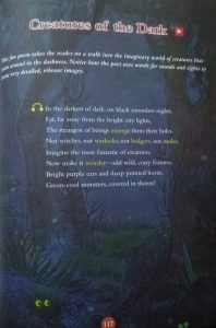 Photograph of the poem Creatures of the Dark