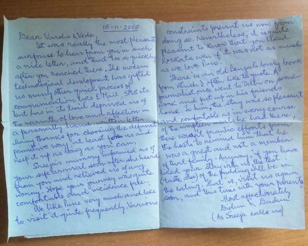 A handwritten inland letter